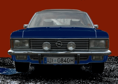 Opel Admiral 2.8 Liter E (B-Version) in red & blue 2
