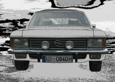 Opel Admiral 2.8 Liter E (B-Version) in black & white 3