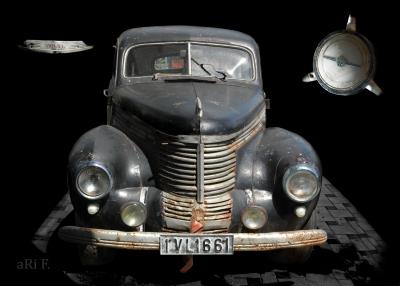 Opel Kapitän '39 Poster in Originalfarbe