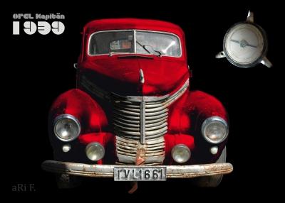 Opel Kapitän '39 in black & red in front view 01