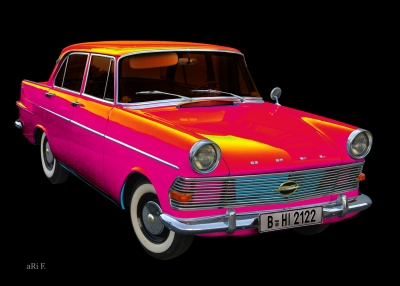 Opel Rekord P2 in Pop-Art pink