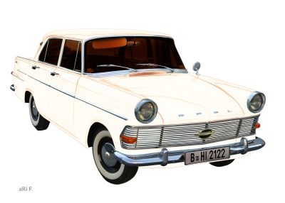Opel Rekord P2 in white pure