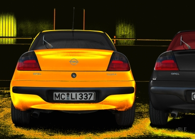 Opel Tigra in black & yellow