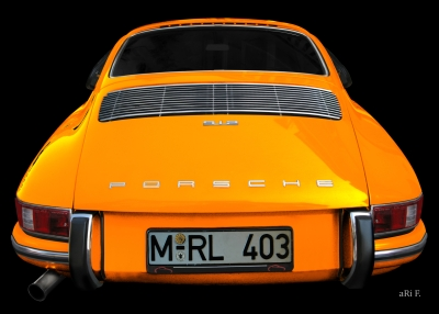 Porsche 912 Poster in orange