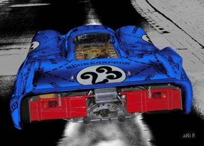 Porsche 917/20 (Die Sau) Poster in blue