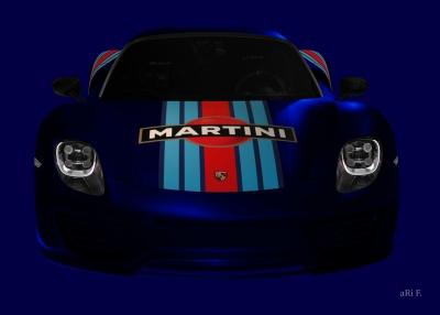 Porsche 918 Spyder Poster in blue
