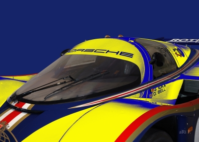 Rothmans Porsche 956 Poster in blue % yellow