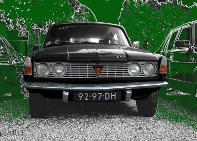 Rover P6 2000 TC Poster in black & green