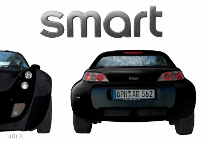 smart Roadster two in black & white 2