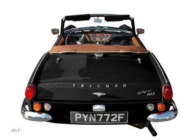 Triumph Spitfire Mk3 rear view in black