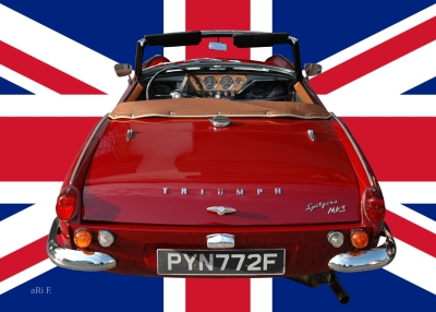 Triumph Spitfire Mk3 in Originalfarbe with Union Jack