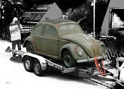 VW Käfer Scheunenfund Poster