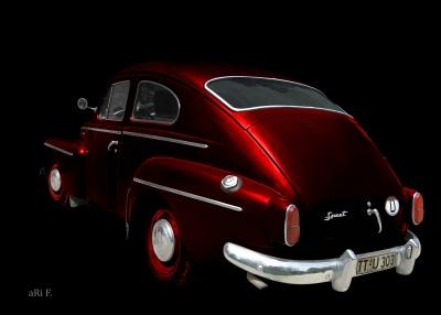 Volvo PV 544 Sport in dark black&red