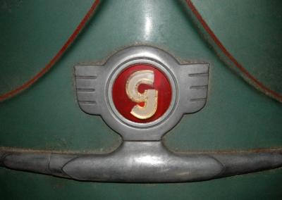Logo auf Glas Goggo Roller
