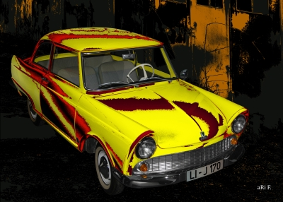 DKW Junior in red & yellow 01