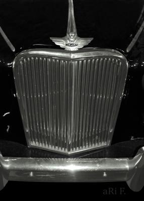 Jaguar Mark VII M in black (radiator grille) Poster