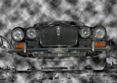 Jaguar XJ Serie 2 in fog
