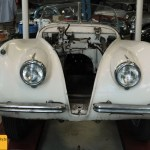 Jaguar XK 120 OTS (Open Two-Seater) in Restauration