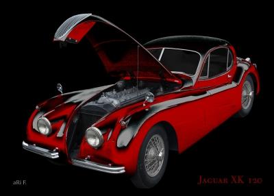 Jaguar XK 120 Poster