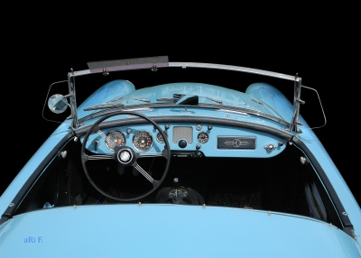 MGA 1600 Roadster Mk I Poster in Originalfarbe Interieur