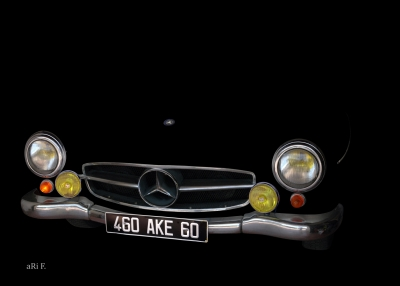 Mercedes-Benz 190 SL in minimalism in black 01 (only chrome)