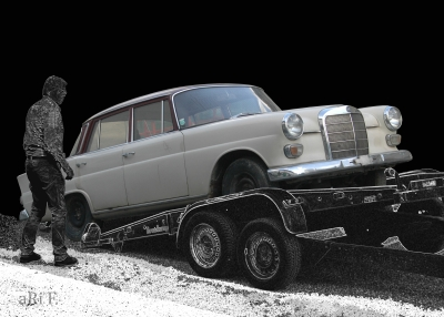 Mercedes-Benz 200 / W 110 in black & grey