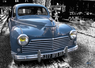 Peugeot 203 Poster in Originalfarbe