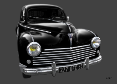 Peugeot 203 in black blurred 02