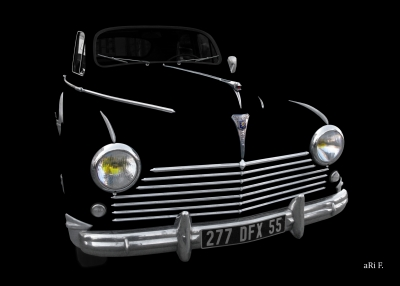 Peugeot 203 in black & only chrome