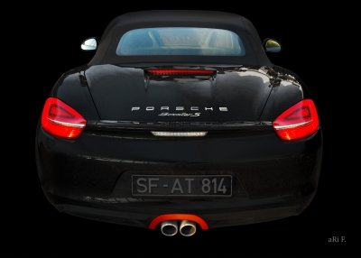 Porsche Boxster S Typ 987 Poster all in black
