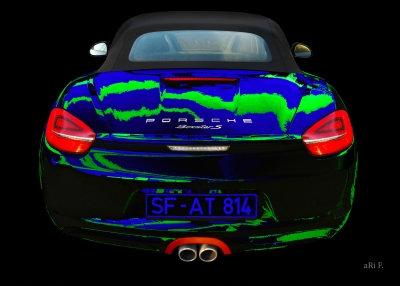 Porsche Boxster S Poster in blue & green