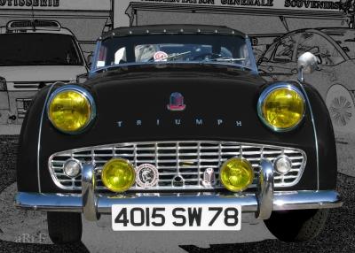 Triumph TR3 in black Poster