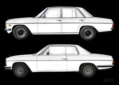 Mercedes-Benz /8 Limo & Coupé in black & white
