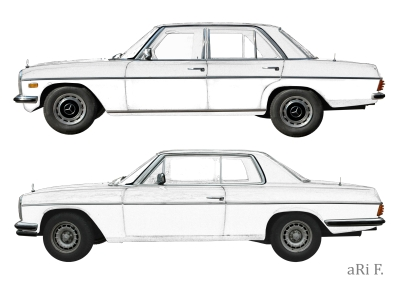Mercedes-Benz /8 Limo & Coupé in white Poster