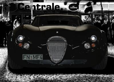 Wiesmann GT FM4 Poster in black & white