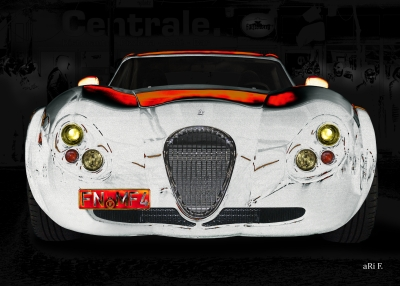 Wiesmann GT FM4 Poster in black & red+white