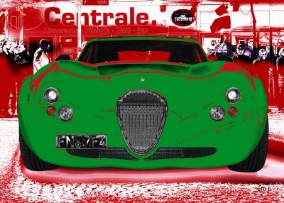Wiesmann GT FM4 Poster in red & green