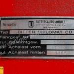 Bitter Diplomat CD Typenschild Hersteller