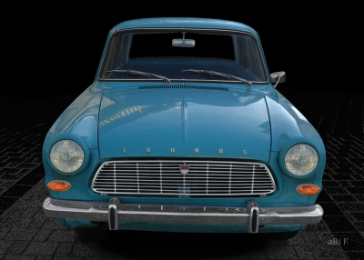Ford Taunus 12M P4 Poster in Originalfarbe