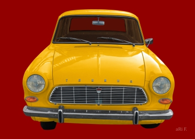 Ford Taunus 12M in red & yellow