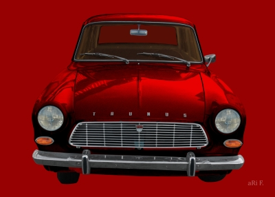 Ford Taunus 12M in red Poster