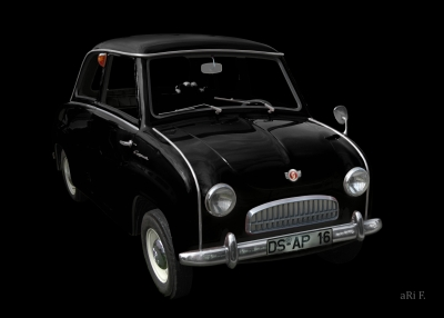 Goggomobil T in black & black