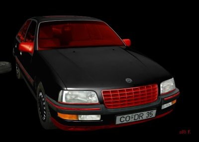 Opel Senator B in black & red-black