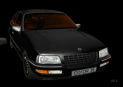 Opel Senator B in black & darkblack
