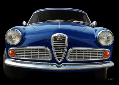 Alfa Romeo Giulietta Sprint 1600 in black & blue (Originalfarbe)