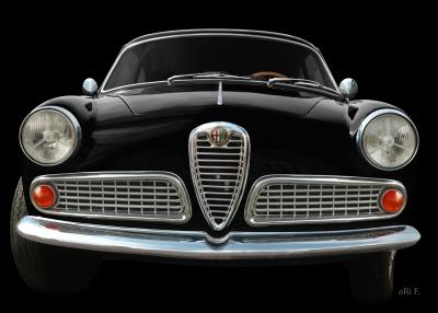 Alfa Romeo Giulietta Sprint 1600 in black & black
