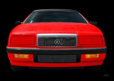 Chrysler LeBaron Convertible Poster in Originalfarbe