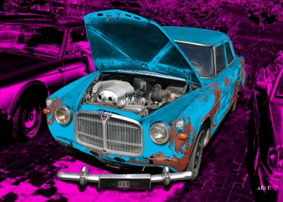 Rover P5 in Rat Rod lila & blue