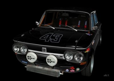NSU 1200 TT in black & black