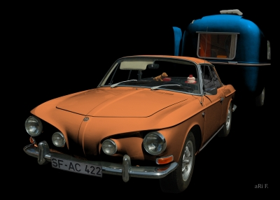 VW Karmann-Ghia Typ 34 in black & copper 02